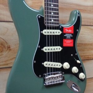 Fender® American Professional Stratocaster® Rosewood Fingerboard Antique Olive w/Case